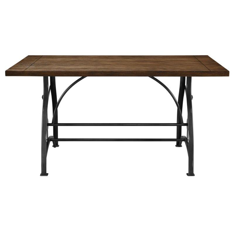 Delacora Hm Ds D088 Rosebank 36 Wide Hardwood And Metal Dining