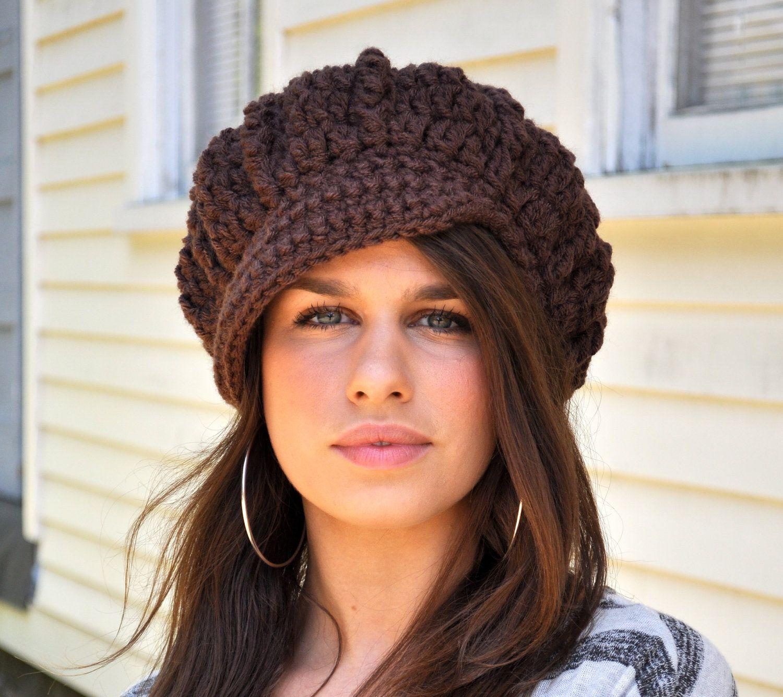 Brown Newsboy Hat - Women\'s Winter Accessories - Chocolate Brown Hat ...