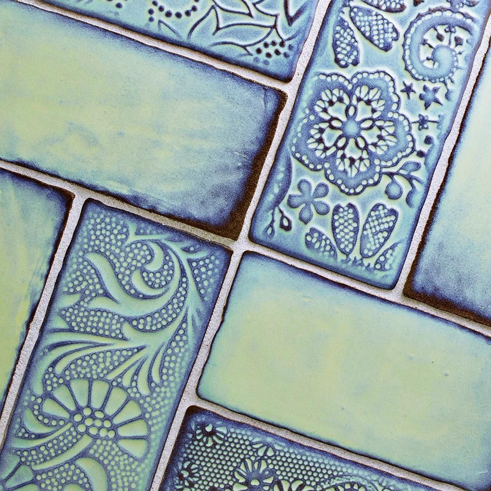 Merola Tile Antic Feelings Agua Marina 3 in. x 6 in. Ceramic Wall ...