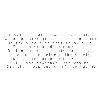 Ben Howard - Keep Your Head Up | Songs | Ben howard lyrics