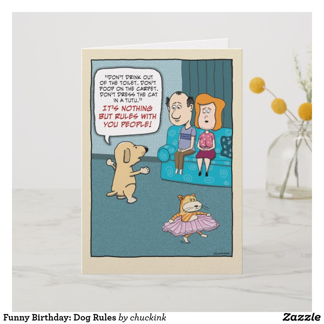 Funny Birthday Dog Rules Card Cardsfunny Cardsgreeting Cardshappy Cardbirthday Greeting Cardsonline Cards