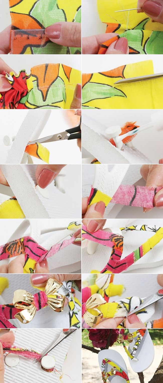 Wonderful 15 DIY Flip Flop Ideas U2013 How To Decorate Your Summer Sandals Awesome Design