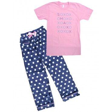 Pajamas for Women - Pink Hugs and Kisses SMAXX | Pajamas for