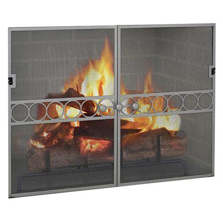 Circle Artisan Gate Rectangle Woodlanddirect Fireplace