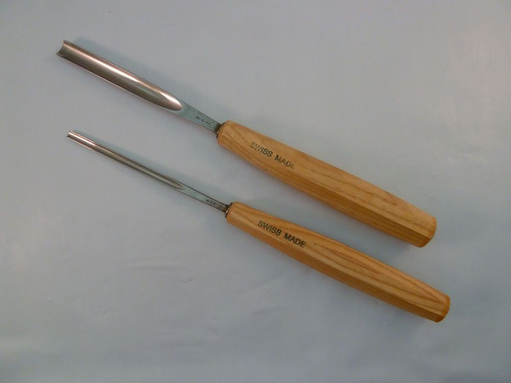 Swiss Made No  8 Chisel Gouge Pfeil Set of 2 Woodworking