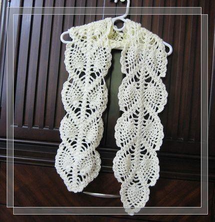 Free Pineapple Crochet Scarf Patterns Google Search Crochet