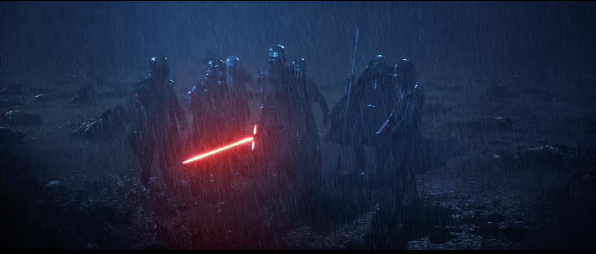 Who's Ren? Surely, a lot has happened in the 30 years between JEDI and FORCE AWAKENS. What if Ren was Luke's first apprentice -- maybe his son, but more likely his nephew (Han and Leia's eldest). Anyway, things go south and Ren turns toward the Dark Side; maybe Luke has to kill him. Kylo -- the younger brother, the second-best, the Faramir -- picks up the banner, training incomplete. He'll forever live in Ren's shadow, but will finish what he started.