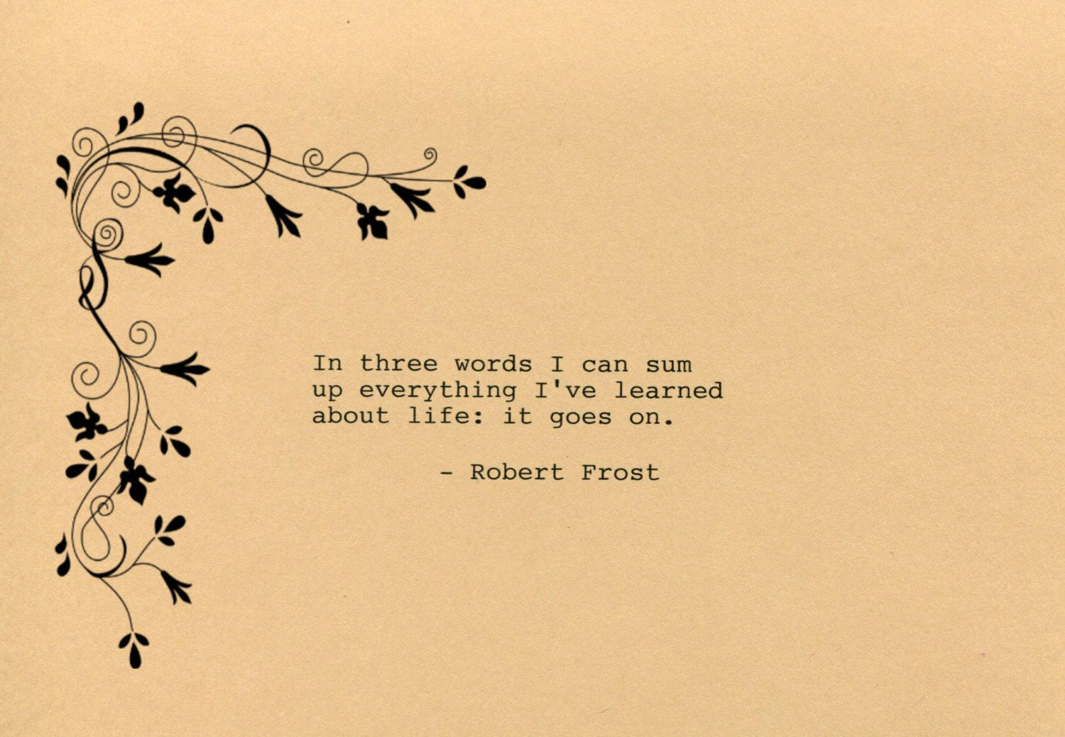 Robert Frost Quote Made on Typewriter Art Quote Wall Art - In three ...
