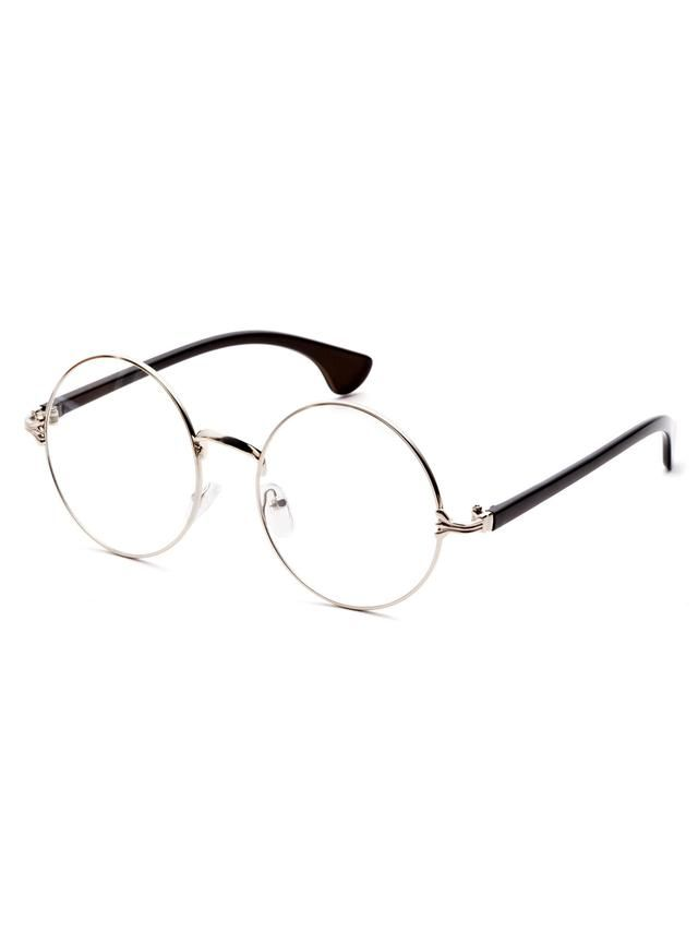 e4ade5b9ca9d Silver Frame Black Arm Clear Lens Glasses
