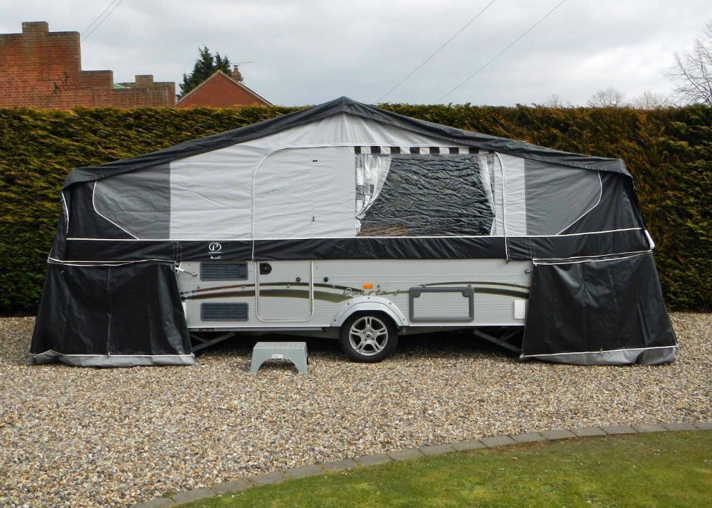 Pennine Quartz 6 Folding Camper Caravan Trailer Tent Bed Skirts Full Awning