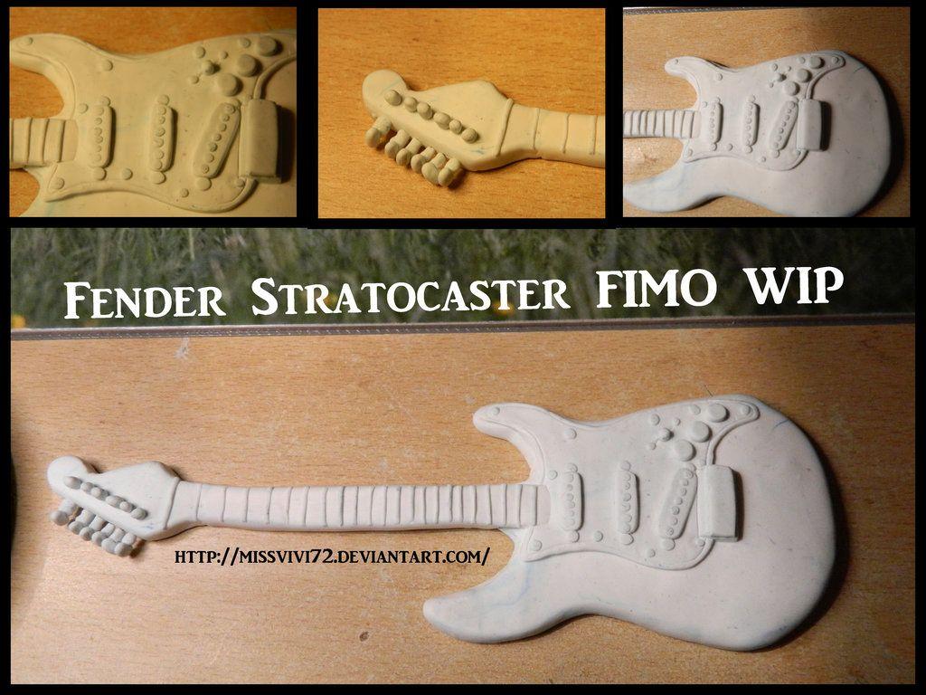 Fender Stratocaster FIMO WIP by MissVivi72.deviantart.com on @deviantART
