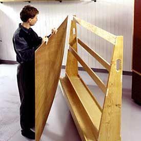 Plywood Storage Cart