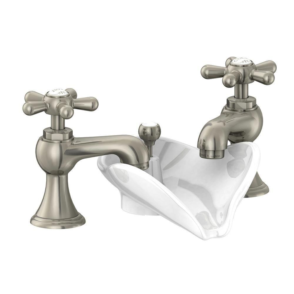 Pegasus 6100 Series 8 In Widespread 2 Handle Low Arc Bathroom