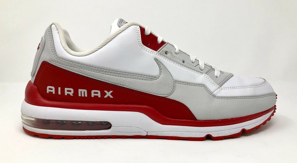 Nike Air Max Ltd 3 Mens Size 16 White Red Gray Leather Runing