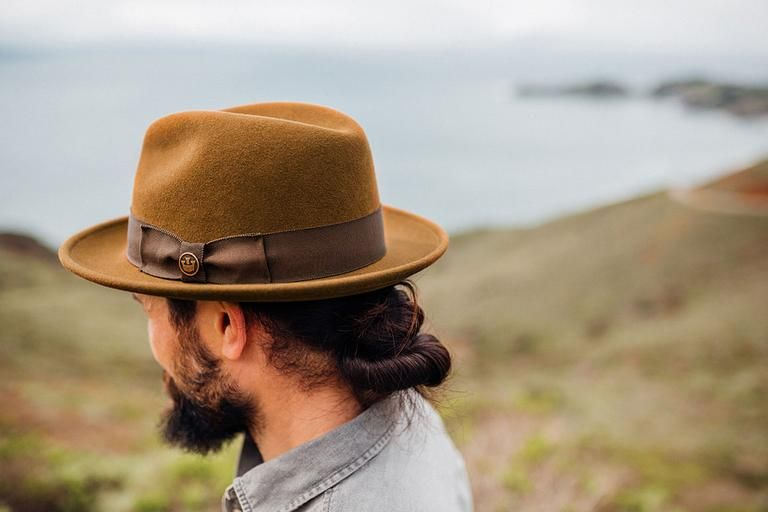 Dean The Butcher Wide Brim Rambouillet Wool Felt Fedora Goorin Bros Wide Brim Fedora Felt Fedora Hats For Men