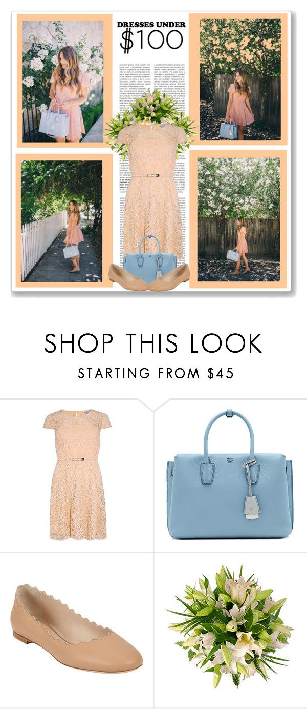 """Dresses Under $100"" by malinda108 ❤ liked on Polyvore featuring Dorothy Perkins, MCM, Chloé, under100 and galmeetsglam"