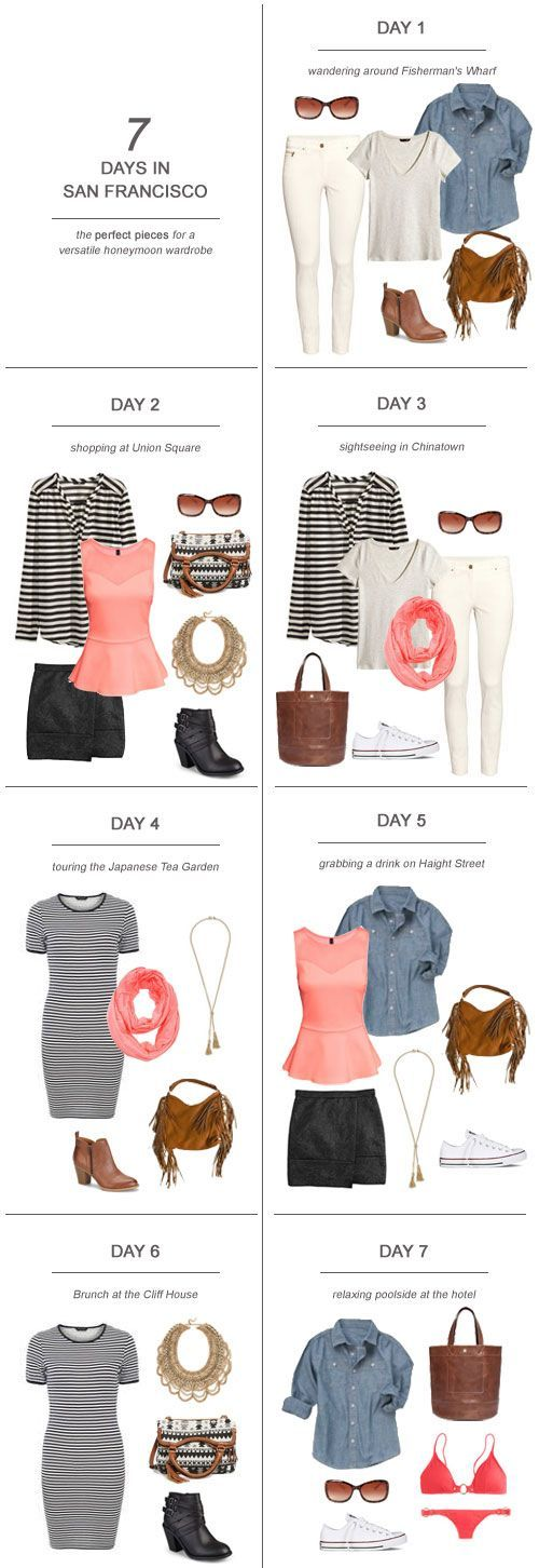 7 Days in San Francisco  The Perfect Pieces for a Versatile Honeymoon Wardrobe