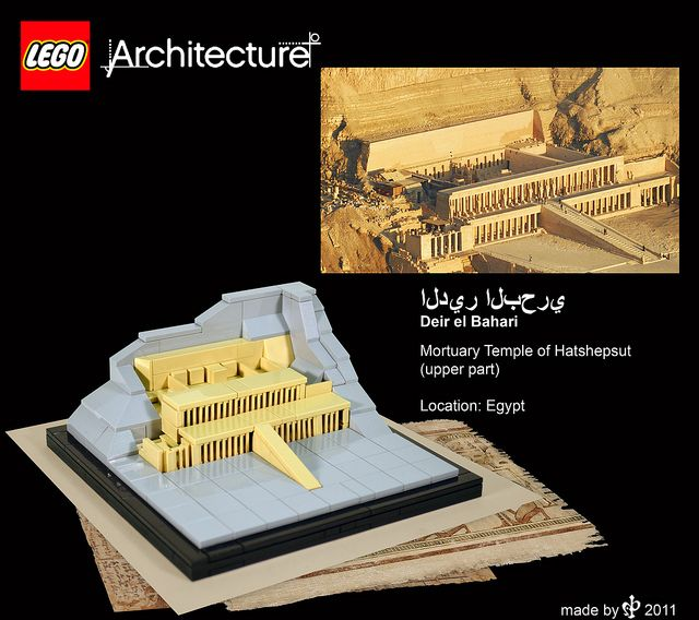 lego_architecture_deir el bahari by HP Mohnroth, via Flickr