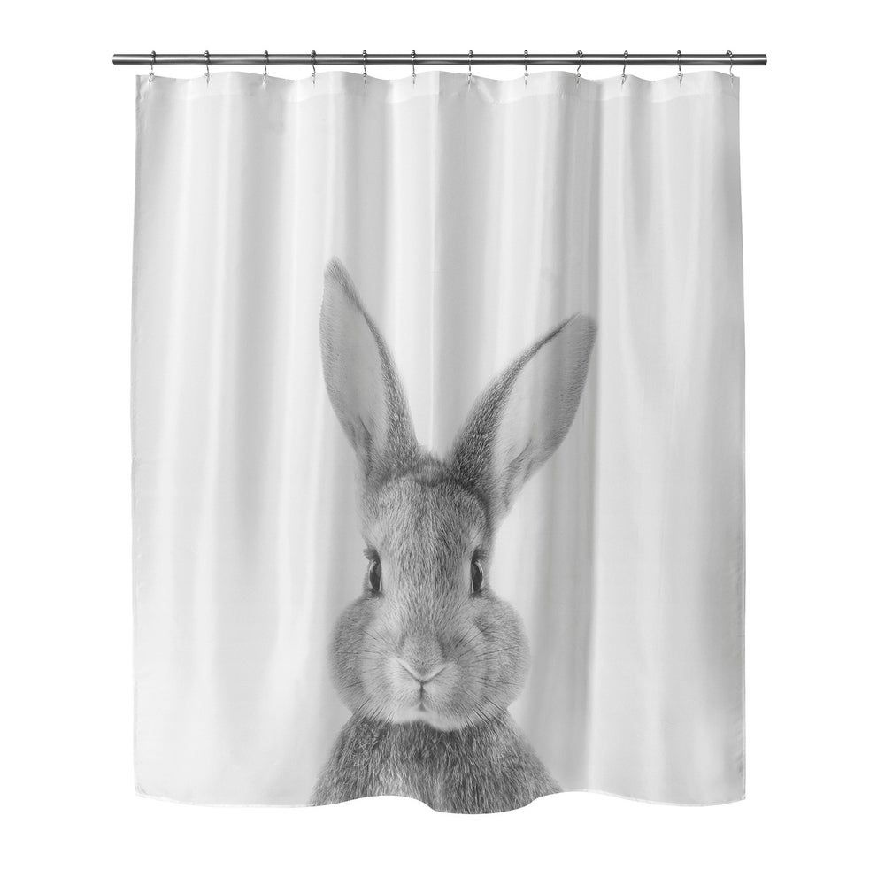 Bunny Shower Curtain By Vivid Atelier 70 X 72 Black Kavka