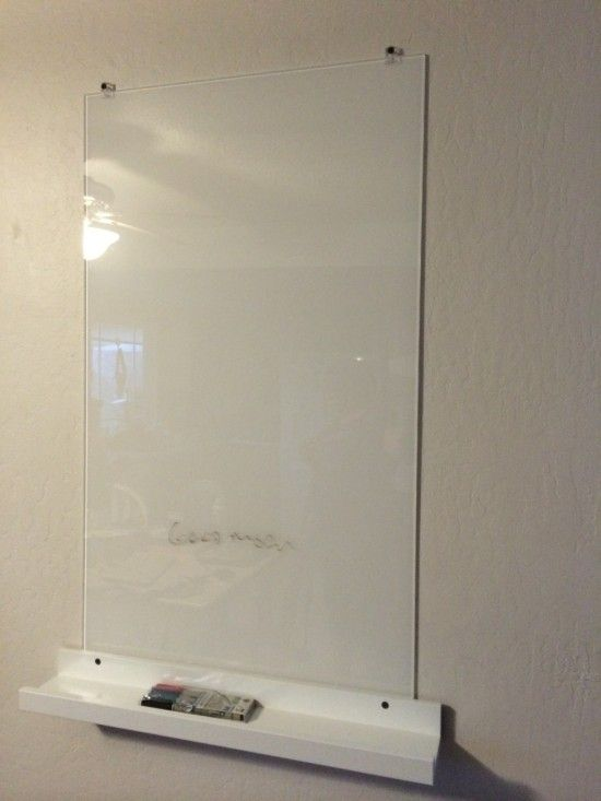 White Glass Dry Eraser Board For 28 Ikea Hackers White Glass Glass Dry Erase Ikea Whiteboard
