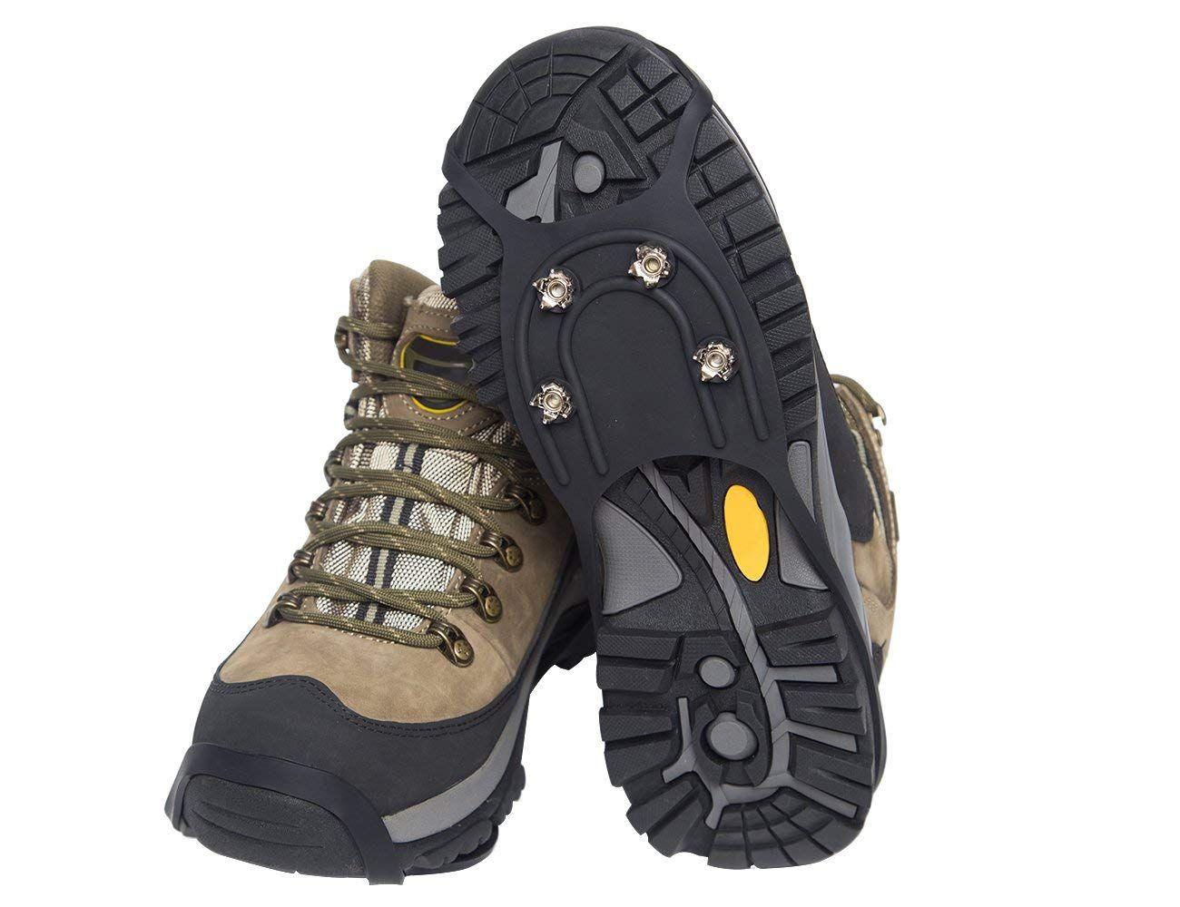 Ice Traction Cleats For Walking Jogging Or Hiking On Snow And Ice 20 Metal Ice Spikes Provide Stability Traction Grips Ice 2 Jogging Hiking Boots Cleats