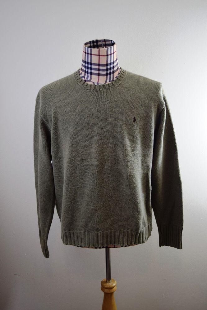 Polo By Ralph Lauren Men's Olive Pistachio Crewneck Sweater Cotton XL Pony  #PoloRalphLauren #Crewneck