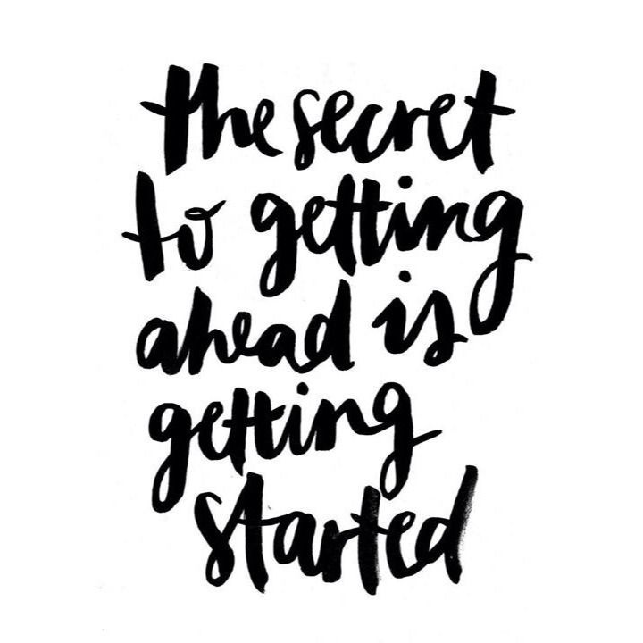 the secret to getting started