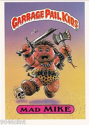1986 Topps Garbage Pail Kids 1st Series Giant 33 Mad Mike Nm Condition Garbage Pail Kids Garbage Pail Kids Cards Kids Series