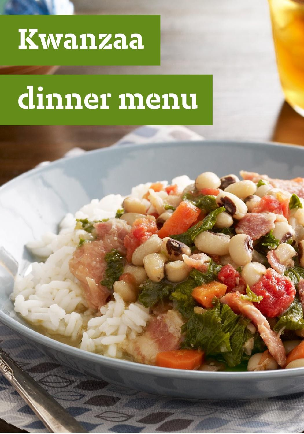 Kwanzaa dinner menu let us simplify your preparation of let us simplify your preparation of traditional african american african or caribbean dishes with our handy kwanzaa dinner menu forumfinder Choice Image