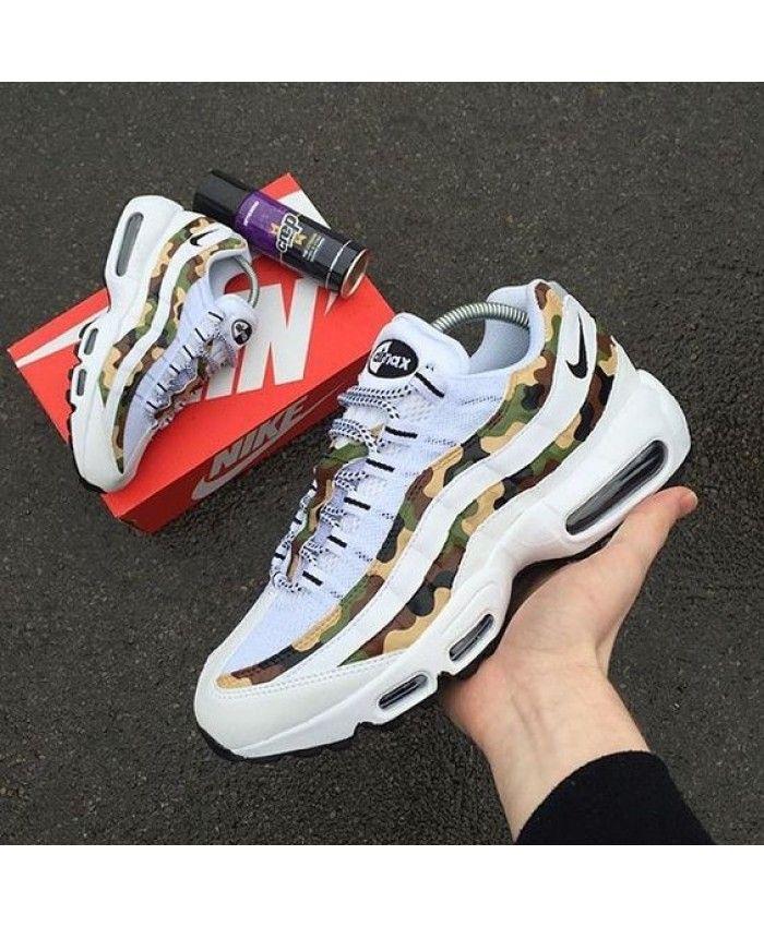 Mens Nike Air Max 95 Camo White Trainer