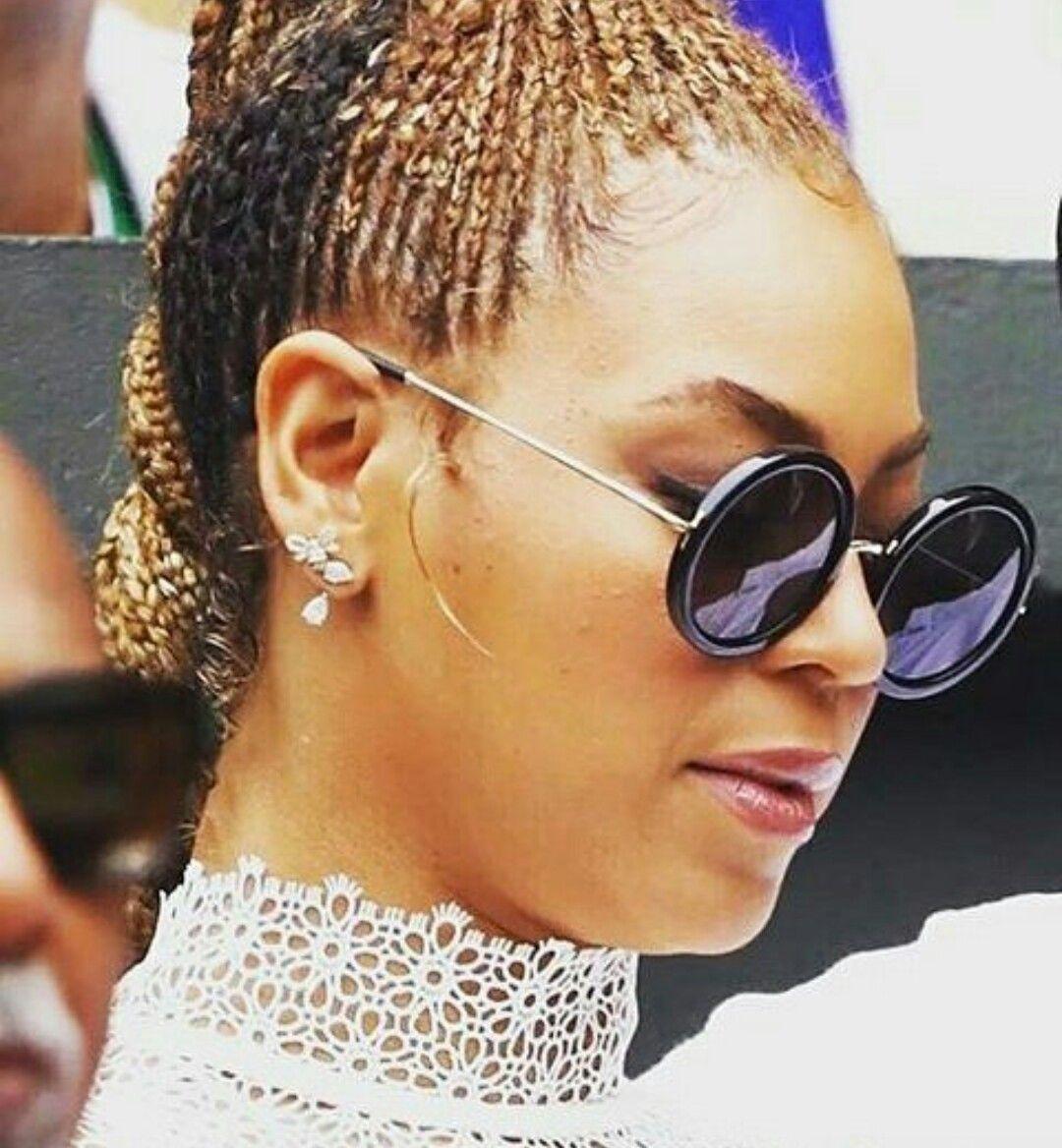Beyoncé wearing a protective style ღ my kinky hair love affair