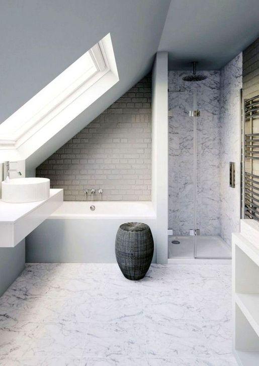 20 Einfache Und Kleine Dachboden Badezimmer Design Ideen Badezimmer Dachschrage Badezimmer Dachgeschoss Und Badezimmer Design