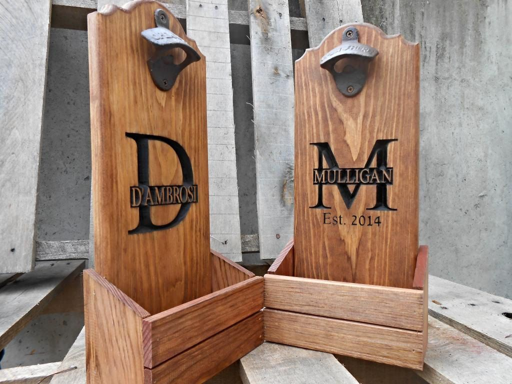 Diy Wood Bottle Cap Catcher Personalized Man Cave Gift For By MVwoodworks 3695