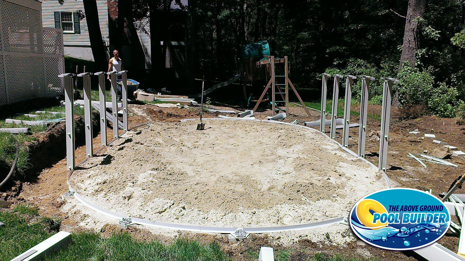 Foundation For Pools : The florance frame built and ready for wall liner