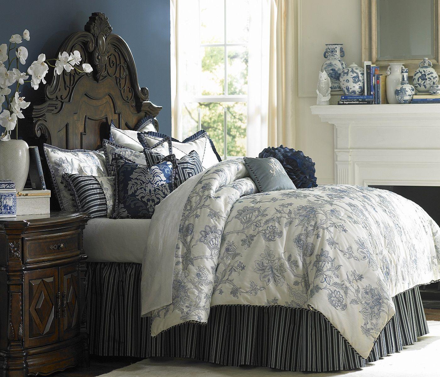 Jardin Bed Set One's Nest Blue Floral Luxury Custom