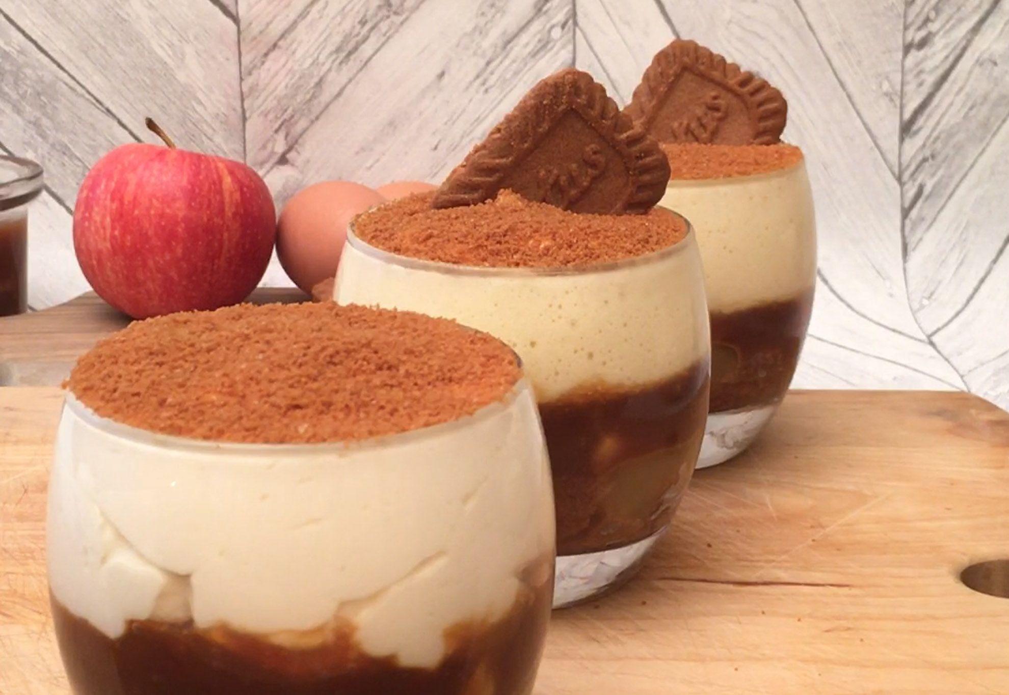 tiramisu pomme caramel beurre sal super rapide faire et d guster ingr dients pour 3. Black Bedroom Furniture Sets. Home Design Ideas