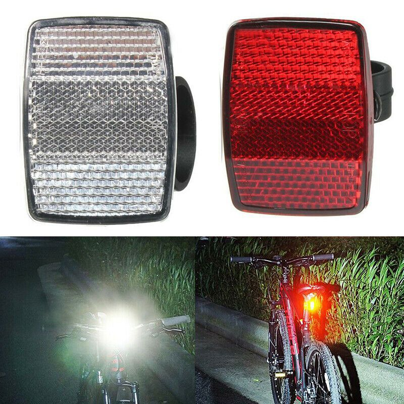 Bicycle Front Rear Reflector Bike Reflective Lens Cycling Accessories Safety US