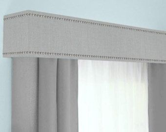Custom Cornice Board Valance Box Window by DesignerHeadboards & Custom Cornice Board Valance Box Window Treatment - Custom Curtain ...