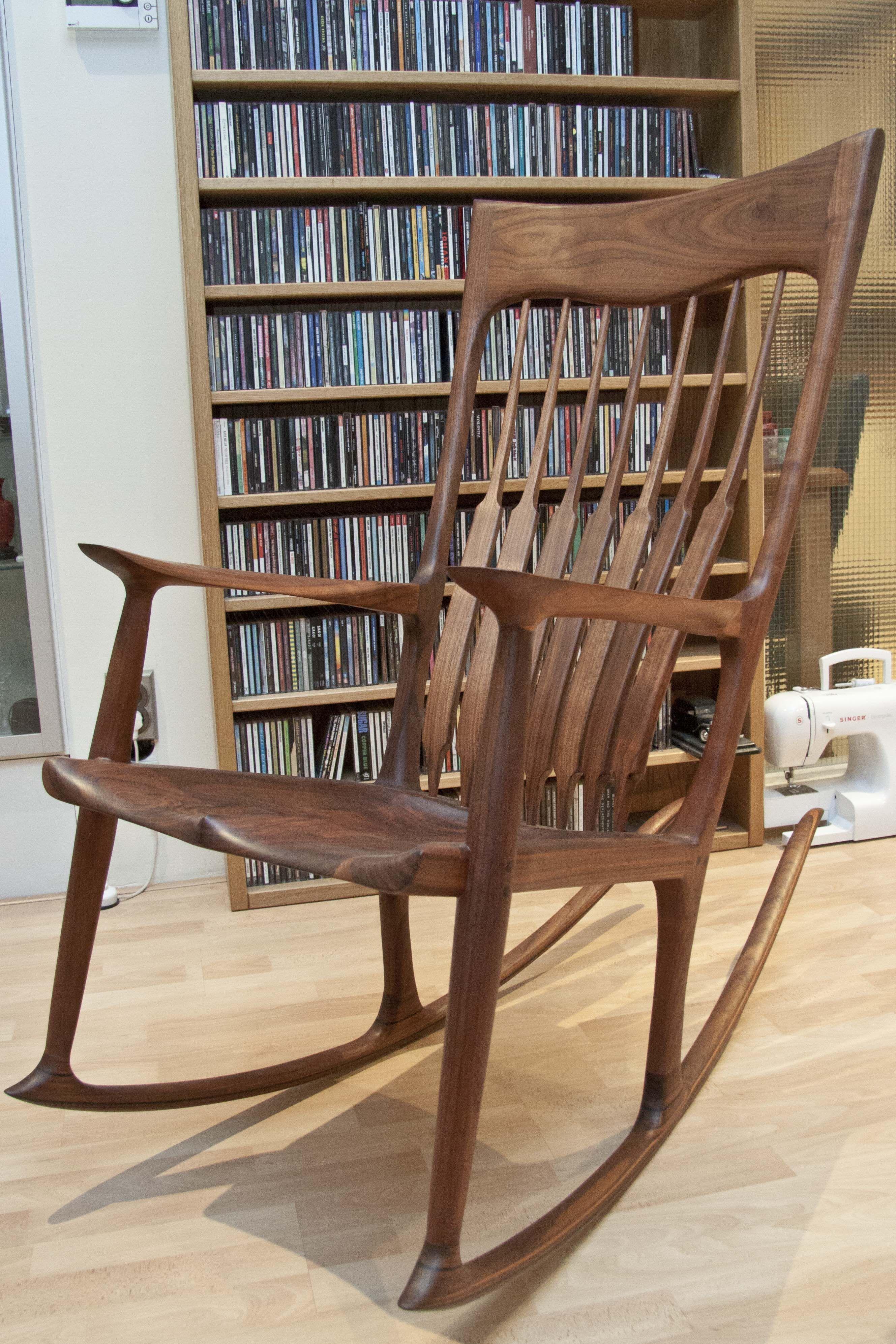 maloof inspired rocking chair walnut rockers chairs stools rh pinterest com