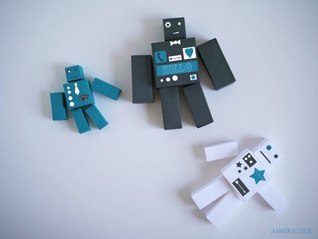 Free Cube Template For Diy Paper Robot By La Maison De Loulou