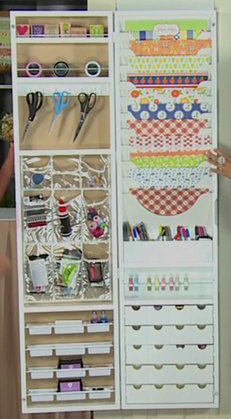Exceptionnel Hampton Art Jinger Adams Craft Armoire..... Over The Door Craft  Organizer... Diy?