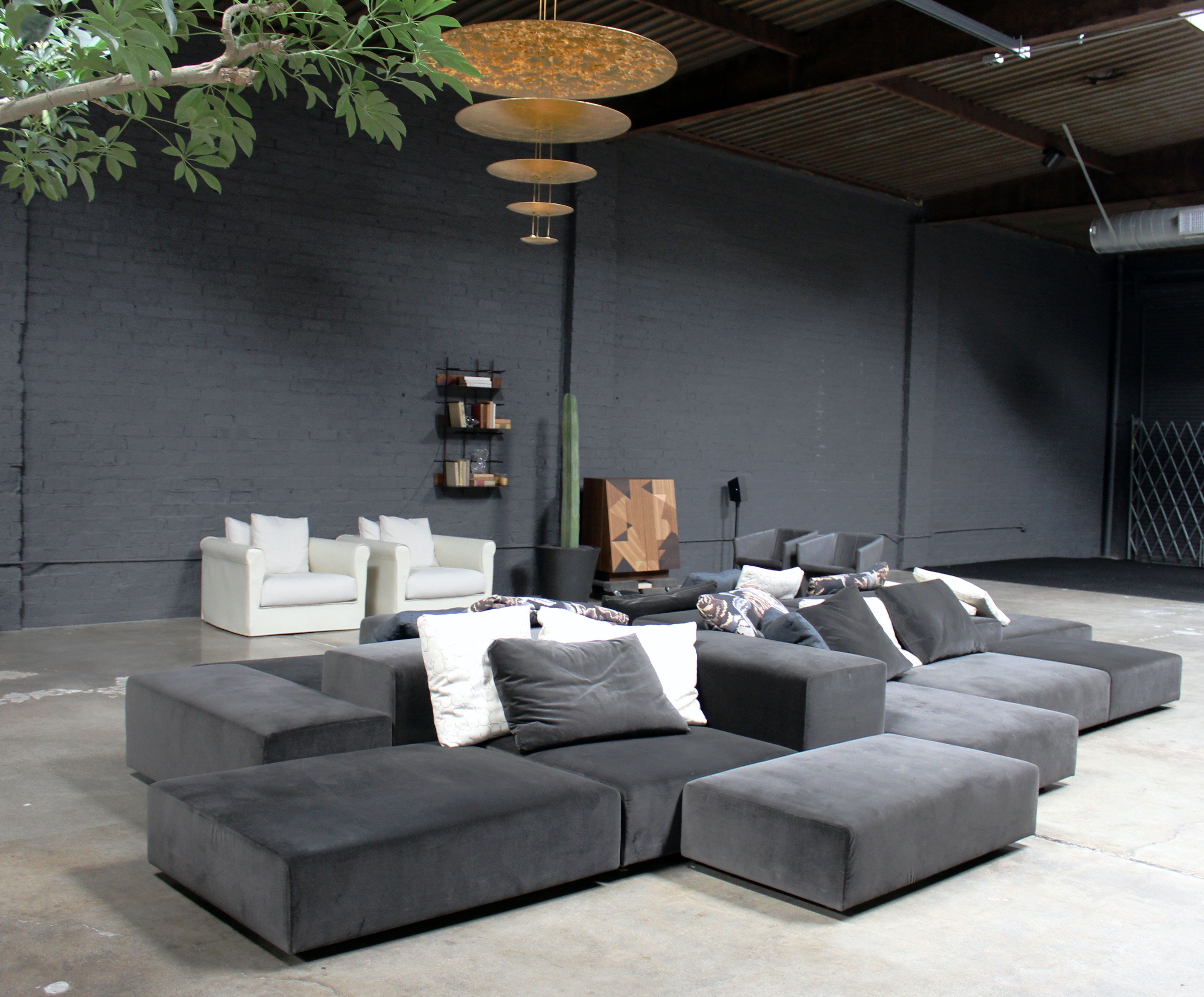 Extra Wall Sofa by Living Divani and Macchina Dela Luce Pendant by