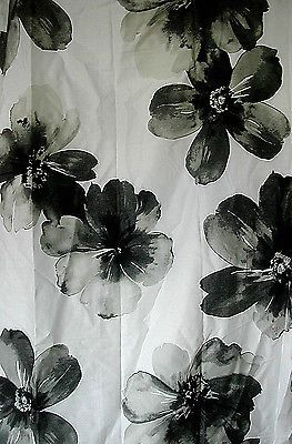 gray watercolor floral shower curtain