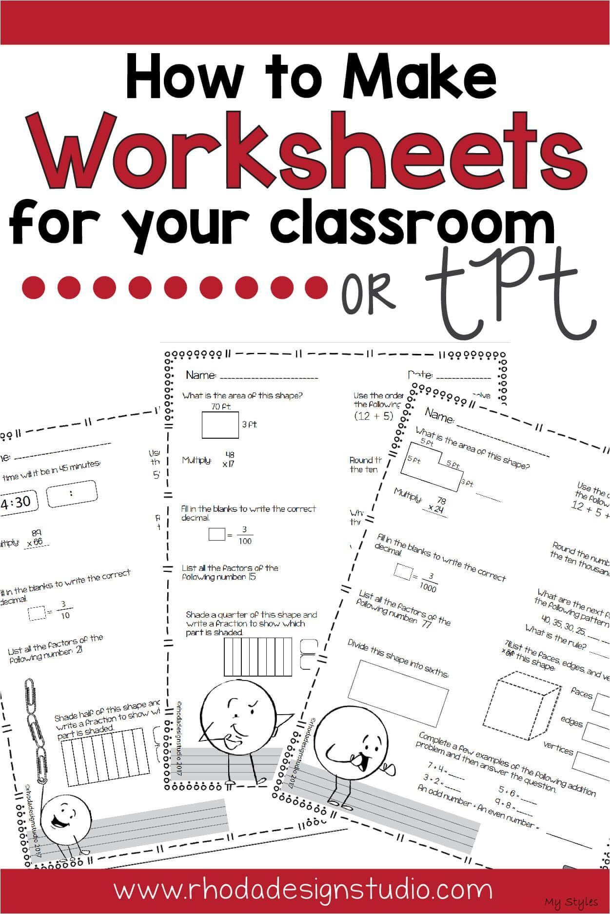 Oct 20 2018 Create Math Worksheets For Your Students And Use Them In Your Classroom Immediately Make W Math Worksheets Middle School Math Math Intervention [ 1875 x 1251 Pixel ]