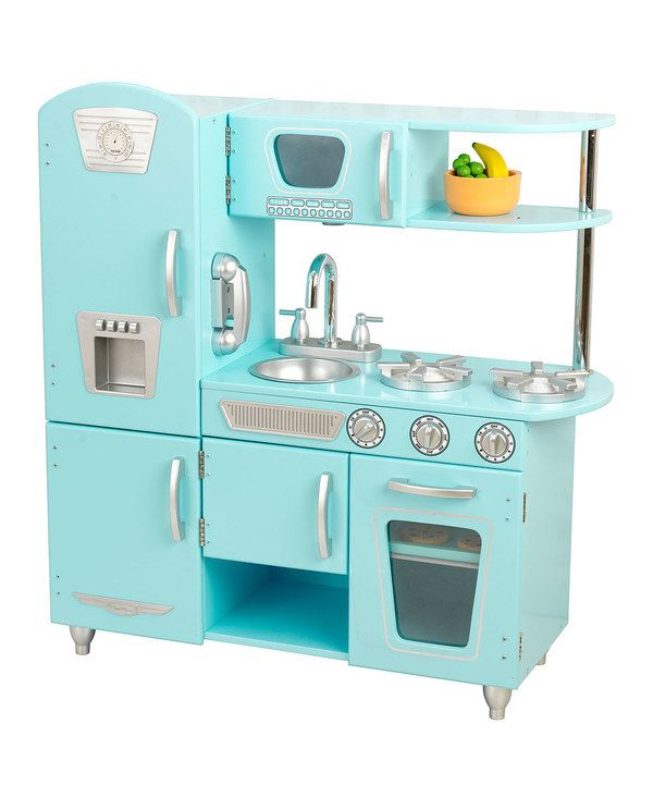 Kidkraft Blue Vintage Play Kitchen Set Play Kitchen Sets Kidkraft Kitchen Kidkraft Vintage Kitchen