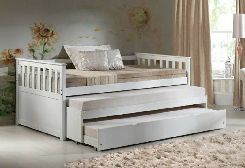 Acme 39080 83 Cominia White Finish Wood Twin Day Bed With Double