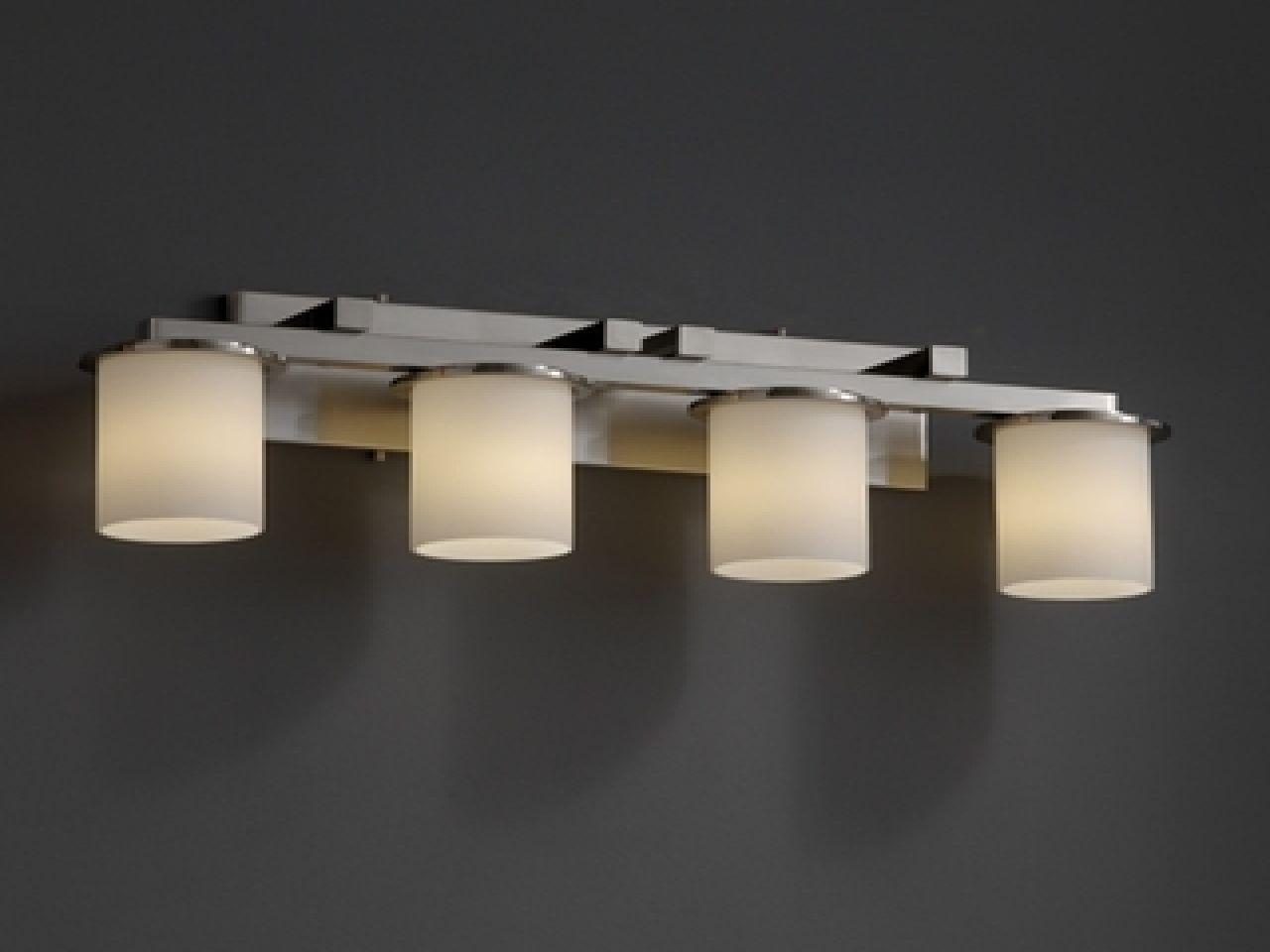 Versatile Bathroom Light Fixtures Brushed Nickel for Your House
