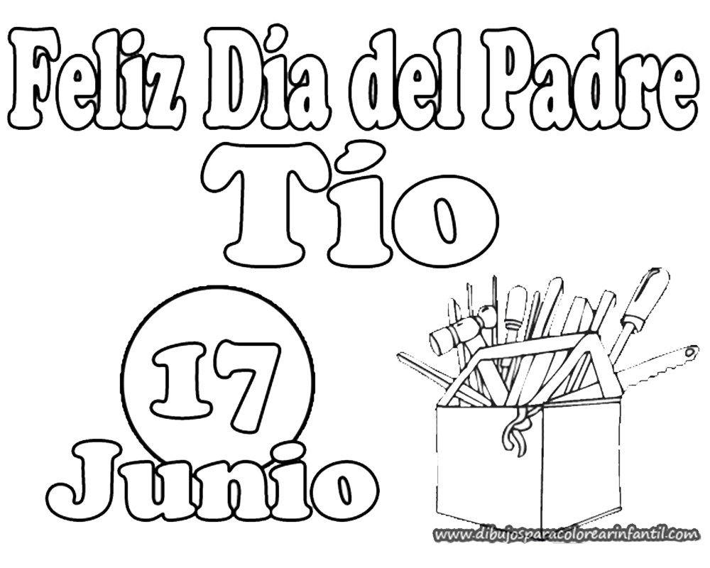 Dibujos Del Dia Del Padre Para Colorear Manualidades Feliz Dia