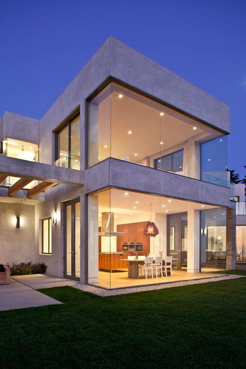 Birdview Residence By Douglas W Burdge Modern Beach House Glass House Design Beach House Design
