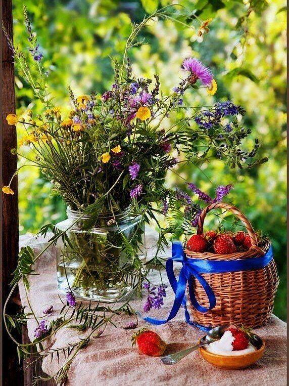 summer flowers bright